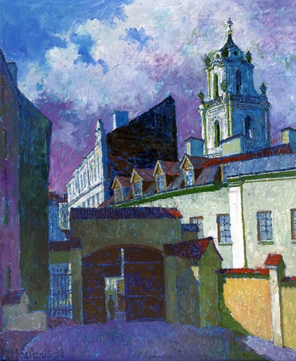 A. Mickevičiaus kiemas Literatų gatvėje, 1998, 59x49