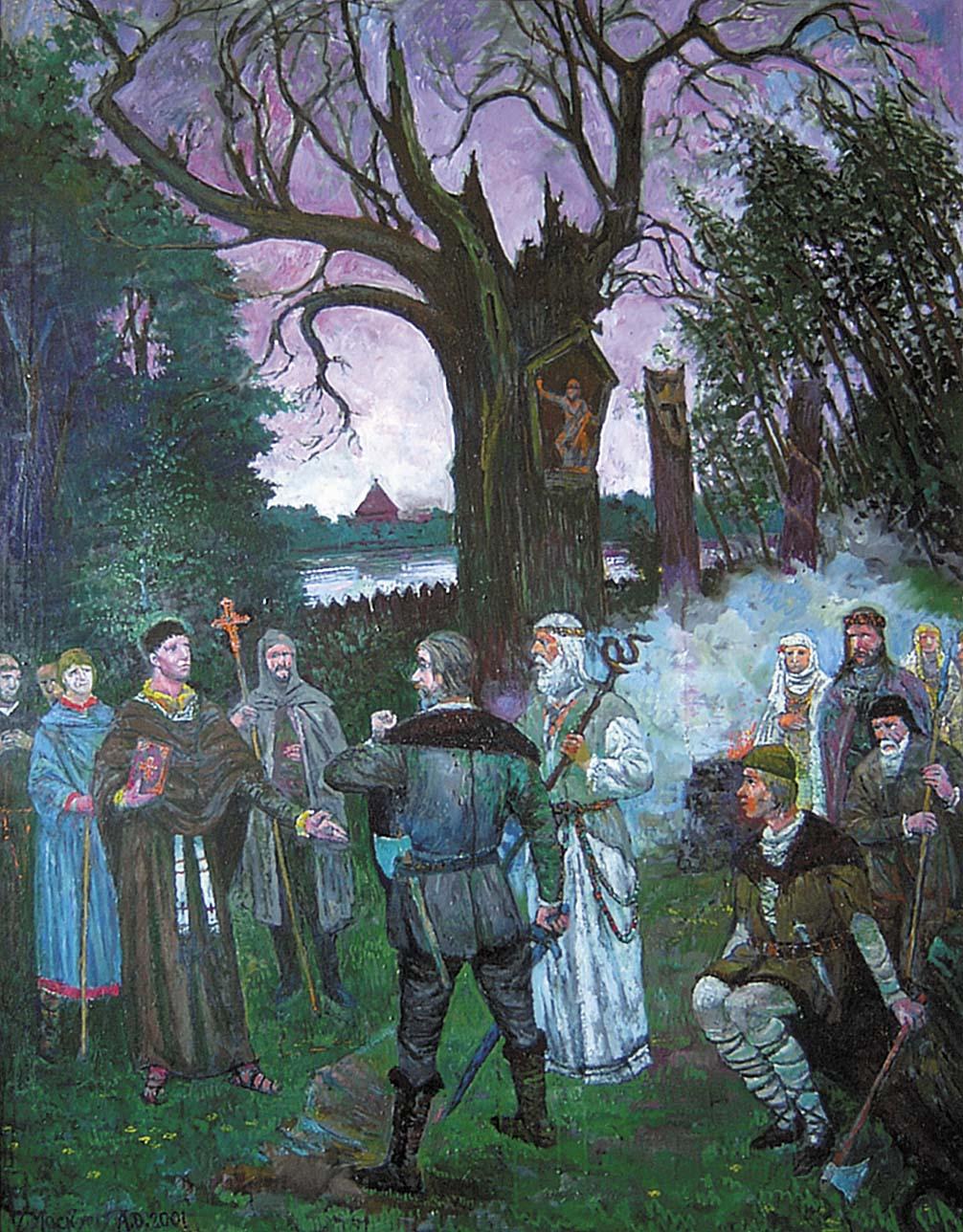 Šv. Brunjonas Litua žemeje Anno Domini 1009, 2001, 130x100
