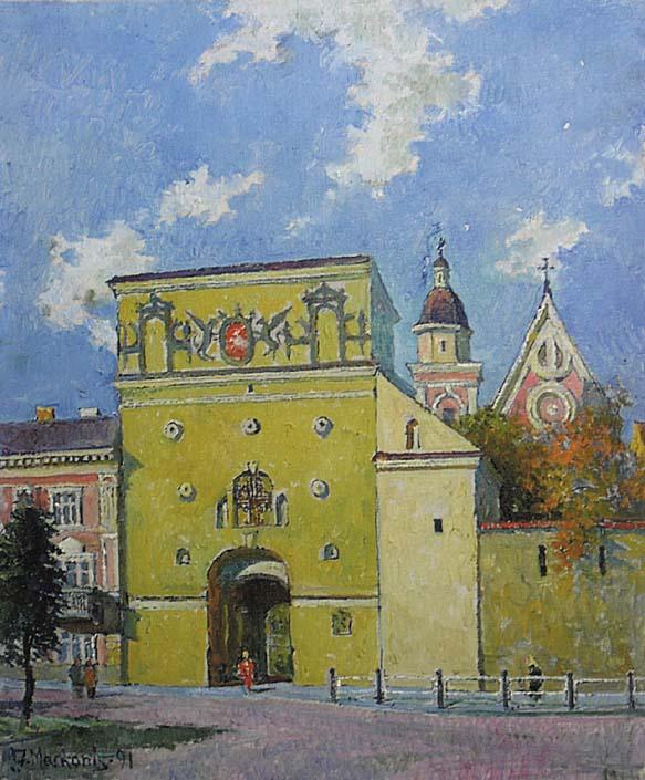 Aušros vartai, 1991, 56x46