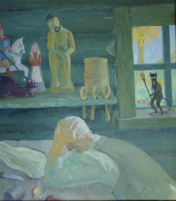 Dievdirbys, 1962, 100x90