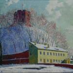 Etnografijos muziejaus kiemas, 1986, 40x50