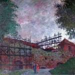 Gedimino pilies pastoliai, 1991, 50x38
