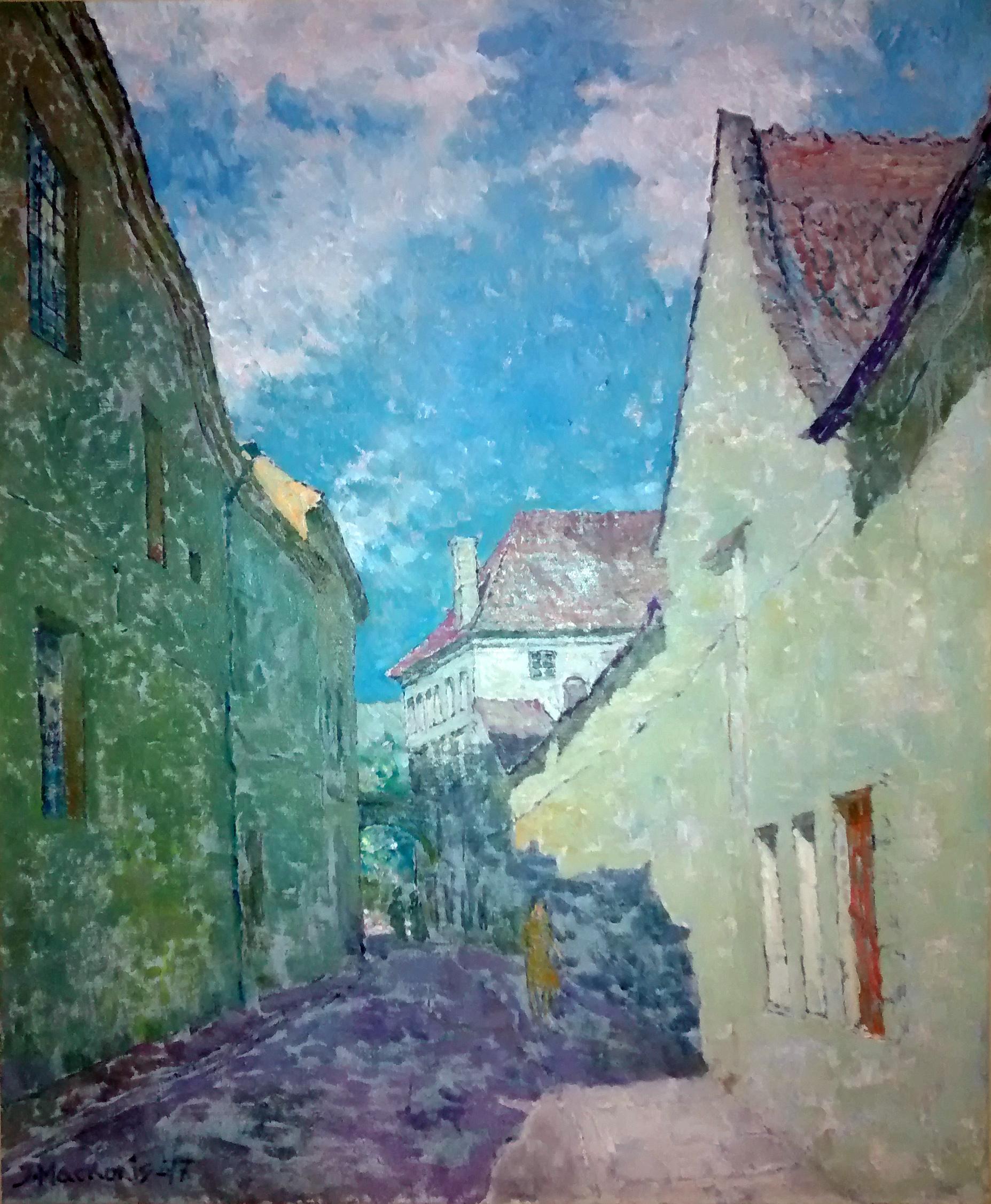 Senamiesčio gatvelė, 1977, 64x53
