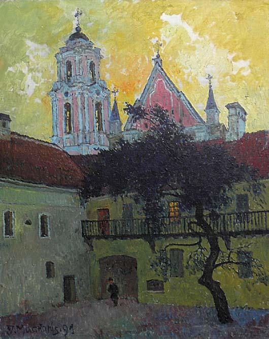 Kiemas Rudninkų gatvėje, 1991, 50x40