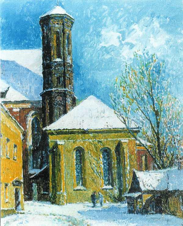 Kiemas prie Bernardinų, 1992, 50x40