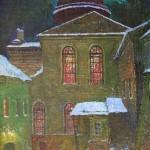 Kiemas prie Vilniaus sinagogos, 1991, 50x34