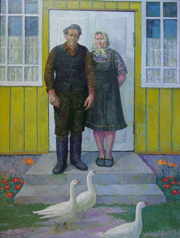 Kolūkio pensininkai Vaitiekus ir Jadvyga, 1983, 116x82