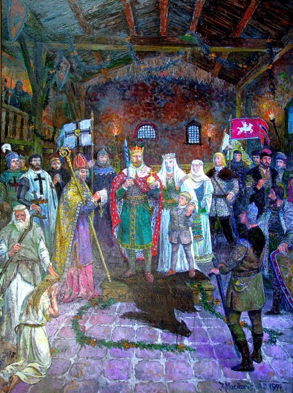 Mindaugo karūnavimas, 1997, 150x120