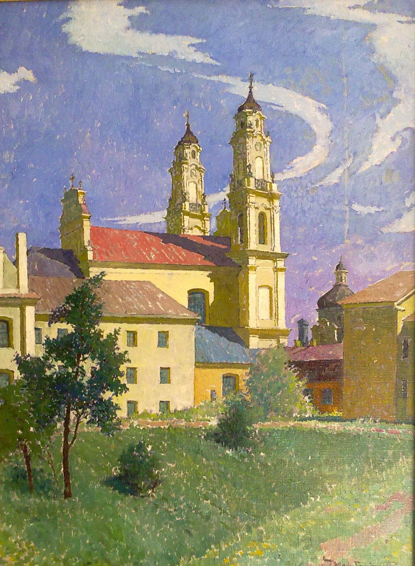 Misionierių bažnyčia, 1983, 80x60