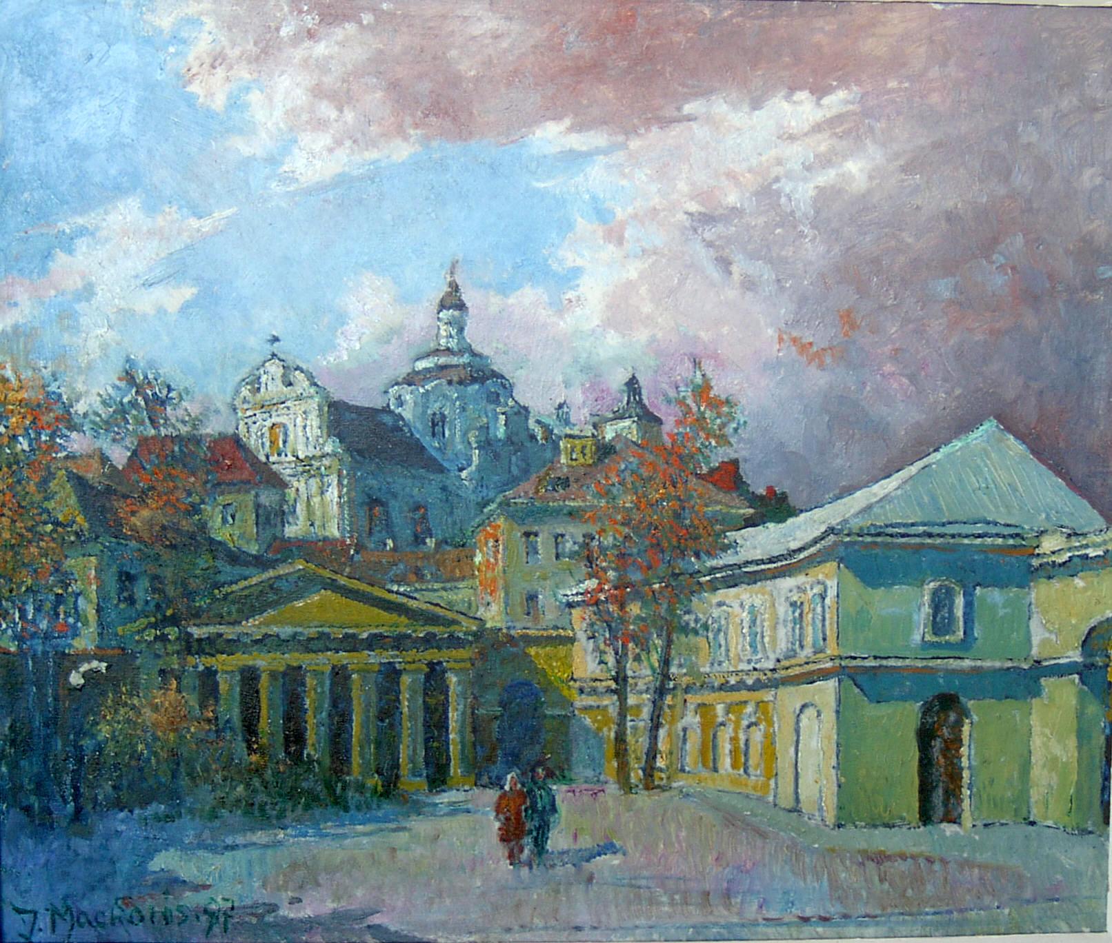 Prezidentūros kiemas, 1997, 49x57