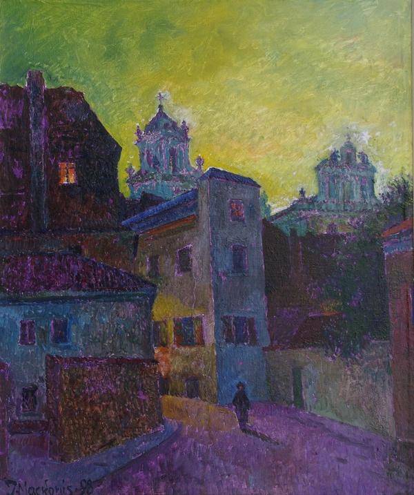 Šviečia Adomo Mickevičiaus langas, 1998, 59x49