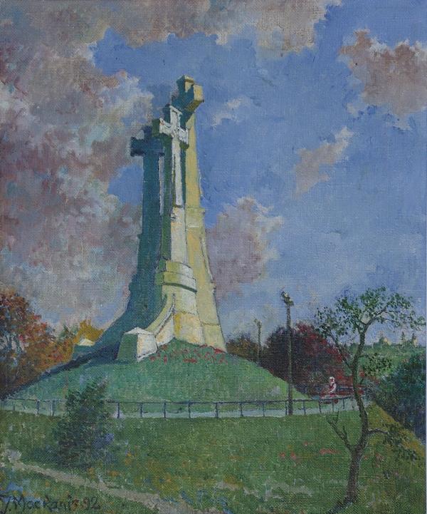 Trijų Kryžių kalne, 1992, 55x46
