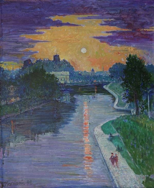 Vaizdas nuo Žirmūnų tilto, 1998, 60x50