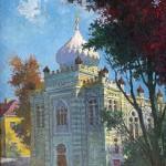 Vilniaus karaimų kenesė, 1991, 50x40