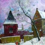 Vilniaus žžiema a la Bruegel, 2001, 60x50