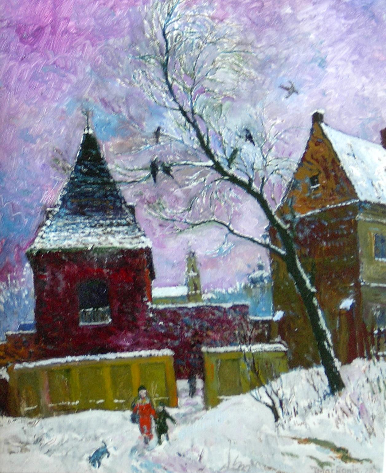 Vilniaus žiema a la Breugel, 2001, 60x50