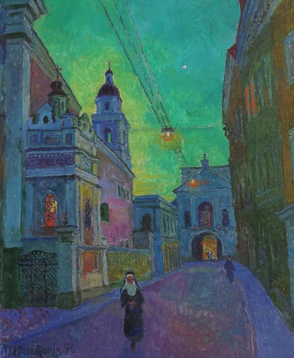 Vilnius prieš aušrą, 1996, 60x49