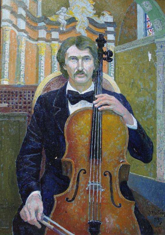 Violončelinistas Iminas Kučinskas, 1983, 91x64