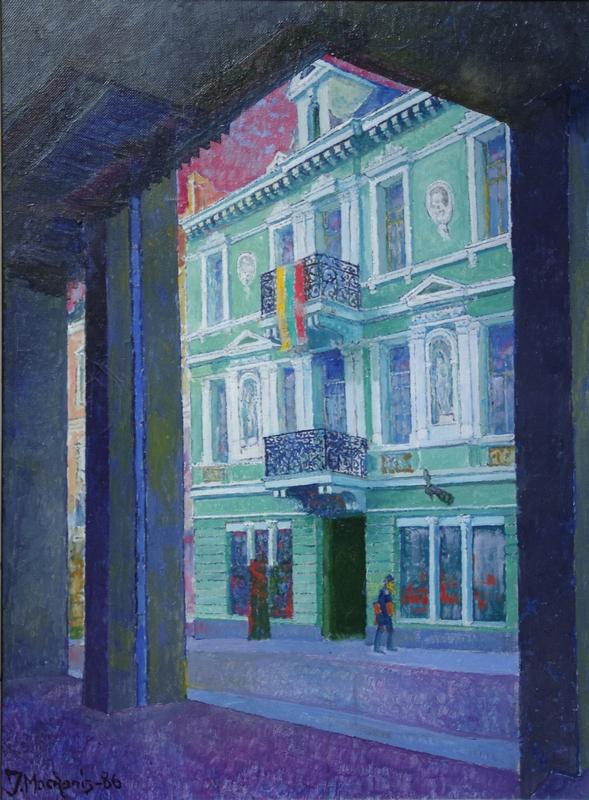 Žaliasis namas Vilniuje (Signatarų namai), 1986, 80x60