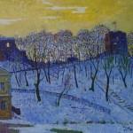 Žiema Gedimino kalne, 1999, 60x50