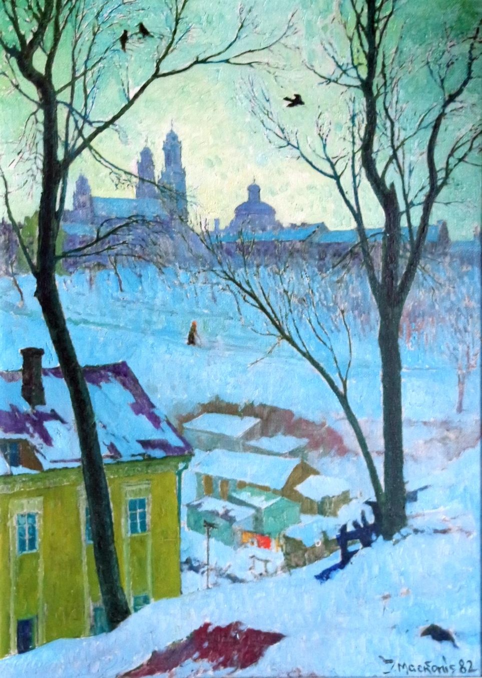 Žiema a la Breugel, 1982, 70x50