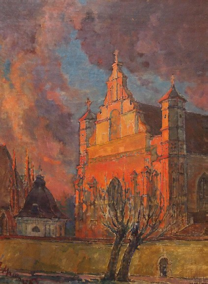 Bernardinų bažnyčia, 1975, 60x45