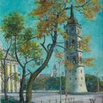Vilniaus Katedros varpinė, 1992, 55x46