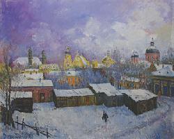 Žiema Vilniuje, 1989, 44x54