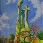 Trijų Kryžių kalne, 1989, 49x34