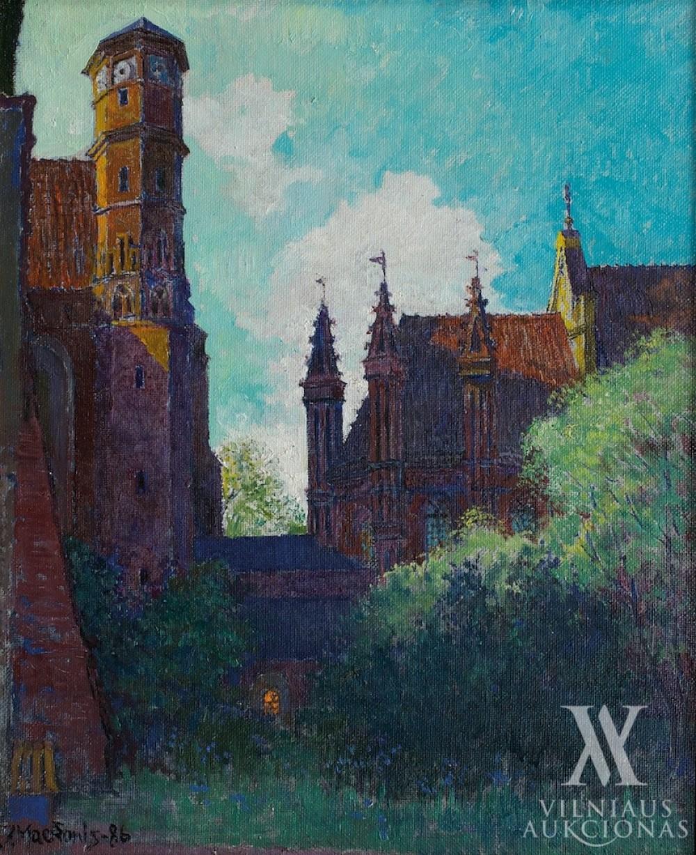 Vilniaus gotikos užuovėja, 1986, 54,5x45,5